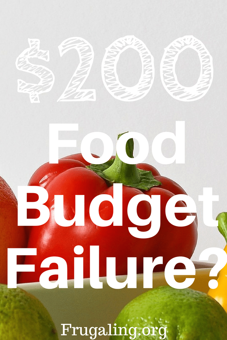 $200 Food Budget Failure?